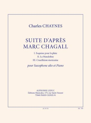 Charles Chaynes - Suite d'après Marc Chagall - Partition - di-arezzo.fr