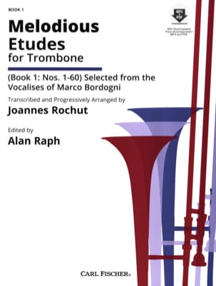 Giulio Marco Bordogni - Melodious etudes for trombone Book 1: N ° 1-60 - Sheet Music - di-arezzo.co.uk