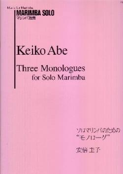 Three Monologues for Solo Marimba Keiko Abe Partition laflutedepan
