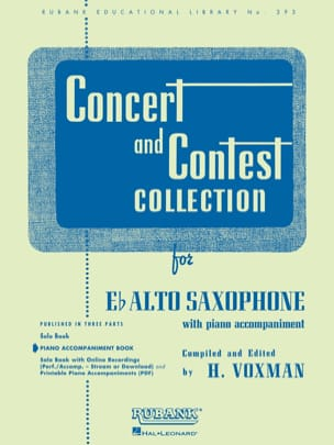Concert and Contest Collection Partition Saxophone - laflutedepan