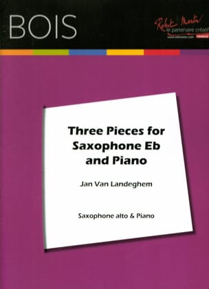 Landeghem Jan Van - Three pieces for saxophone - Partition - di-arezzo.fr