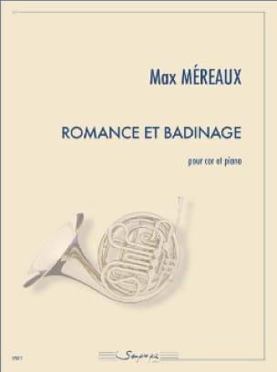 Romance et badinage Max Méreaux Partition Cor - laflutedepan