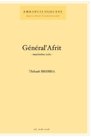 Thibault Brebbia - Général' Afrit - Partition - di-arezzo.fr