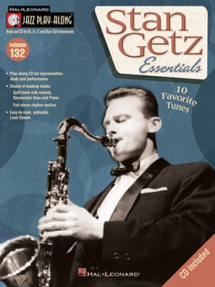 Stan Getz - Jazz play-along volume 132 - Stan Getz - Partition - di-arezzo.fr
