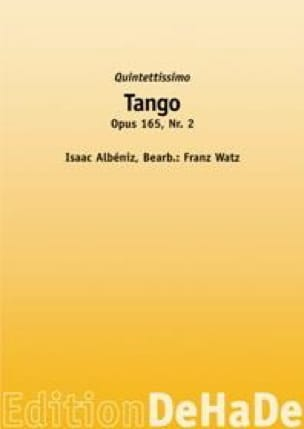 Isaac Albeniz - タンゴOpus 165 N°2 - 楽譜 - di-arezzo.jp