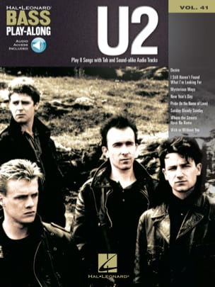 Bass Play-Along volume 41 - U2 U2 Partition Pop / Rock - laflutedepan