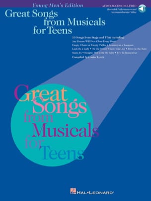 - Great songs from musicals for teens - Young men's edition - Partition - di-arezzo.fr