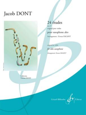 Jacob Dont - 24 Etudes opus 37 - Original for violin - Partition - di-arezzo.co.uk