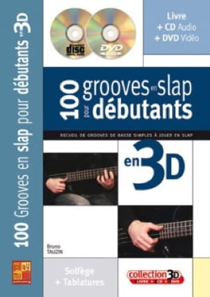 Bruno Tauzin - 100 Grooves in slap for beginners in 3D - DVD - Sheet Music - di-arezzo.co.uk