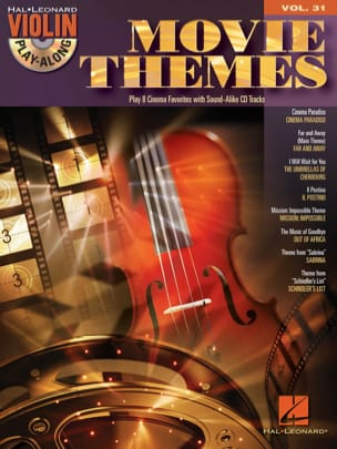 Violin play-along volume 31 - Movie Themes Partition laflutedepan