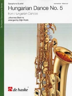 BRAHMS - Hungarian Dances N ° 5 - Saxophone Quartet - Sheet Music - di-arezzo.co.uk