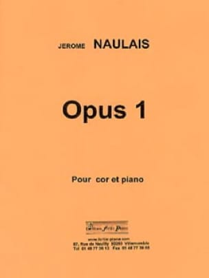 Jérôme Naulais - Opus 1 - Sheet Music - di-arezzo.co.uk