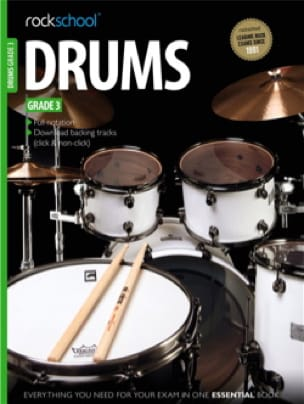 Rockschool drums - Grade 3 - Partition - laflutedepan.com
