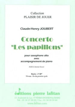 Claude-Henry Joubert - Concerto the butterflies - Sheet Music - di-arezzo.com