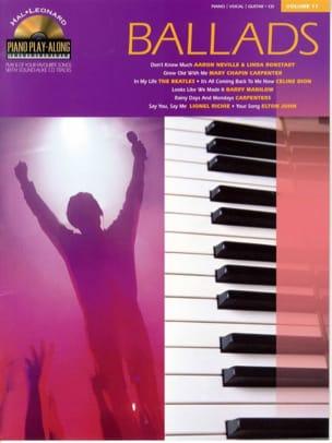 Piano play-along volume 11 - Ballads - laflutedepan.com