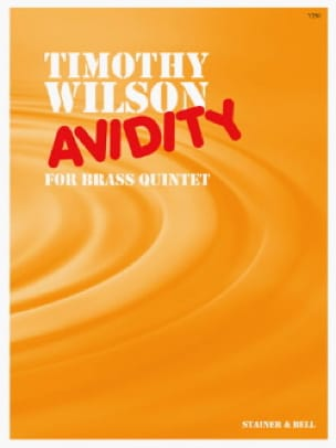 Timothy Wilson - Avidity - Partition - di-arezzo.fr