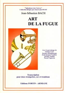 Art de la fugue BACH Partition Ensemble de cuivres - laflutedepan