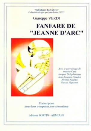 Fanfare de Jeanne d'Arc VERDI Partition laflutedepan
