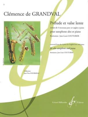 Grandval Clémence de - Prelude and slow waltz - Sheet Music - di-arezzo.co.uk