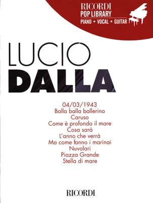 Ricordi Pop Library - Lucio Dalla - Partition - laflutedepan.com