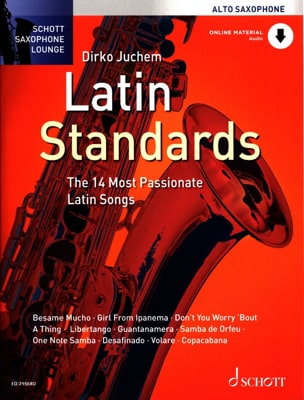 Latin standards Partition Saxophone - laflutedepan