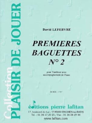 David Lefebvre - First baguettes N ° 2 - Sheet Music - di-arezzo.co.uk