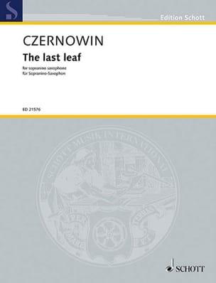 Chaya Czernowin - La última hoja - Partitura - di-arezzo.es