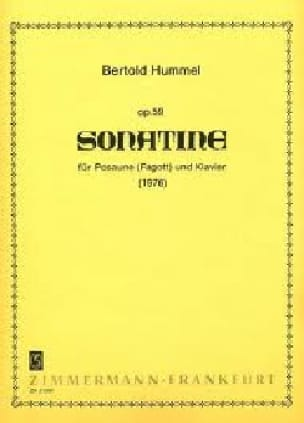 Berthold Hummel - Sonatine opus 59 - Partition - di-arezzo.fr