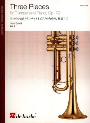 Three pieces opus 72 Itaru Sakai Partition Trompette - laflutedepan