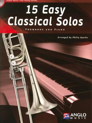 15 Easy classical solos Partition Trombone - laflutedepan