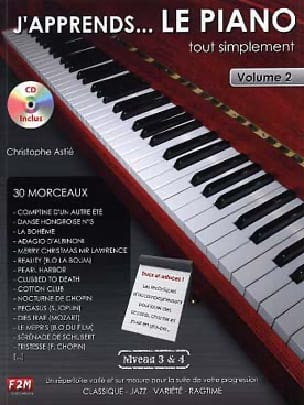 Christophe Astié - J'apprends... le piano tout simplement volume 2 - Partition - di-arezzo.fr