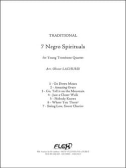7 Negro Spirituals Traditionnel Partition Trombone - laflutedepan