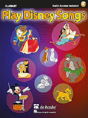 Play Disney songs DISNEY Partition Clarinette - laflutedepan