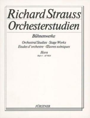 Richard Strauss - Orchestre studien - Bühnenwerke orchestral studies volumen 4 - Partitura - di-arezzo.es