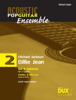 Michael Jackson - Billie Jean - Acoustic pop guitar set N ° 2 - Sheet Music - di-arezzo.co.uk