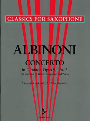 Tomaso Albinoni - Concerto in D-minor opus 9 N ° 2 - Sheet Music - di-arezzo.com