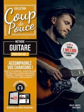 COUP DE POUCE - Méthode Guitare Débutant Volume 1 - Sheet Music - di-arezzo.co.uk