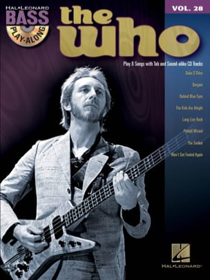 The Who - Bass play-along volume 28 - The Who - Partition - di-arezzo.fr