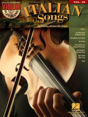 Violin play-along volume 39 - Italian songs Partition laflutedepan