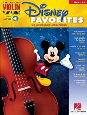 Violin play-along volume 29 - Disney favorites laflutedepan