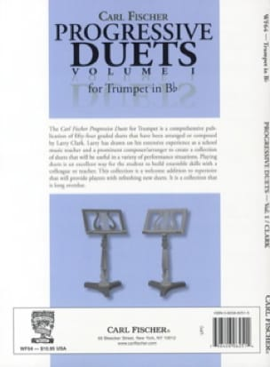 Progressive duets volume 1 for trumpet in Bb Partition laflutedepan