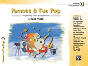 Famous & fun pop volume 1 Partition Musique de film - laflutedepan