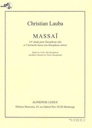 Massaï - 14e étude Christian Lauba Partition Saxophone - laflutedepan