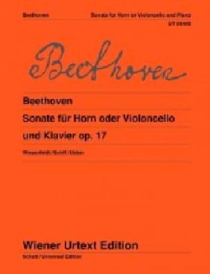 Sonate opus 17 BEETHOVEN Partition Cor - laflutedepan