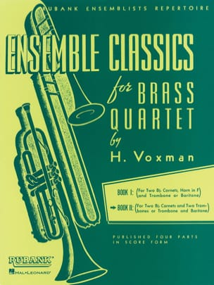 Voxman - Classics set for brass quartet book 2 - Sheet Music - di-arezzo.com