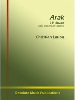 Arak - 18e Etude - Christian Lauba - Partition - laflutedepan.com