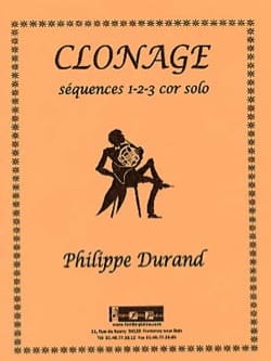 Philippe Durand - Clonage - Séquences 1-2-3 - Partition - di-arezzo.fr