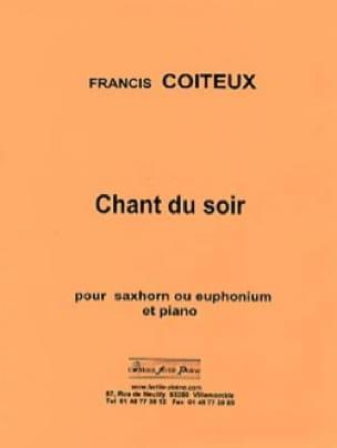 Chant du soir Francis Coiteux Partition Tuba - laflutedepan