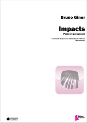 Impacts Bruno Giner Partition Multi Percussions - laflutedepan