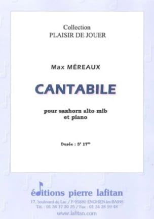 Max Méreaux - Cantabile - Partition - di-arezzo.fr